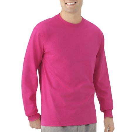 Fruit of the Loom Mens Platinum EverSoft Long Sleeve T-Shirt, Available up to size 4X