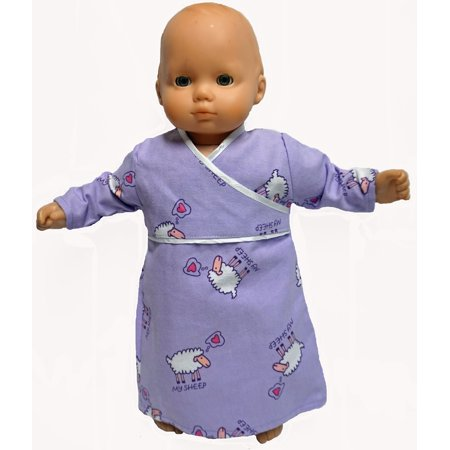 Sweet Dreaming Sheep Nightgown Fits Baby Dolls And 18 Inch Girl Dolls