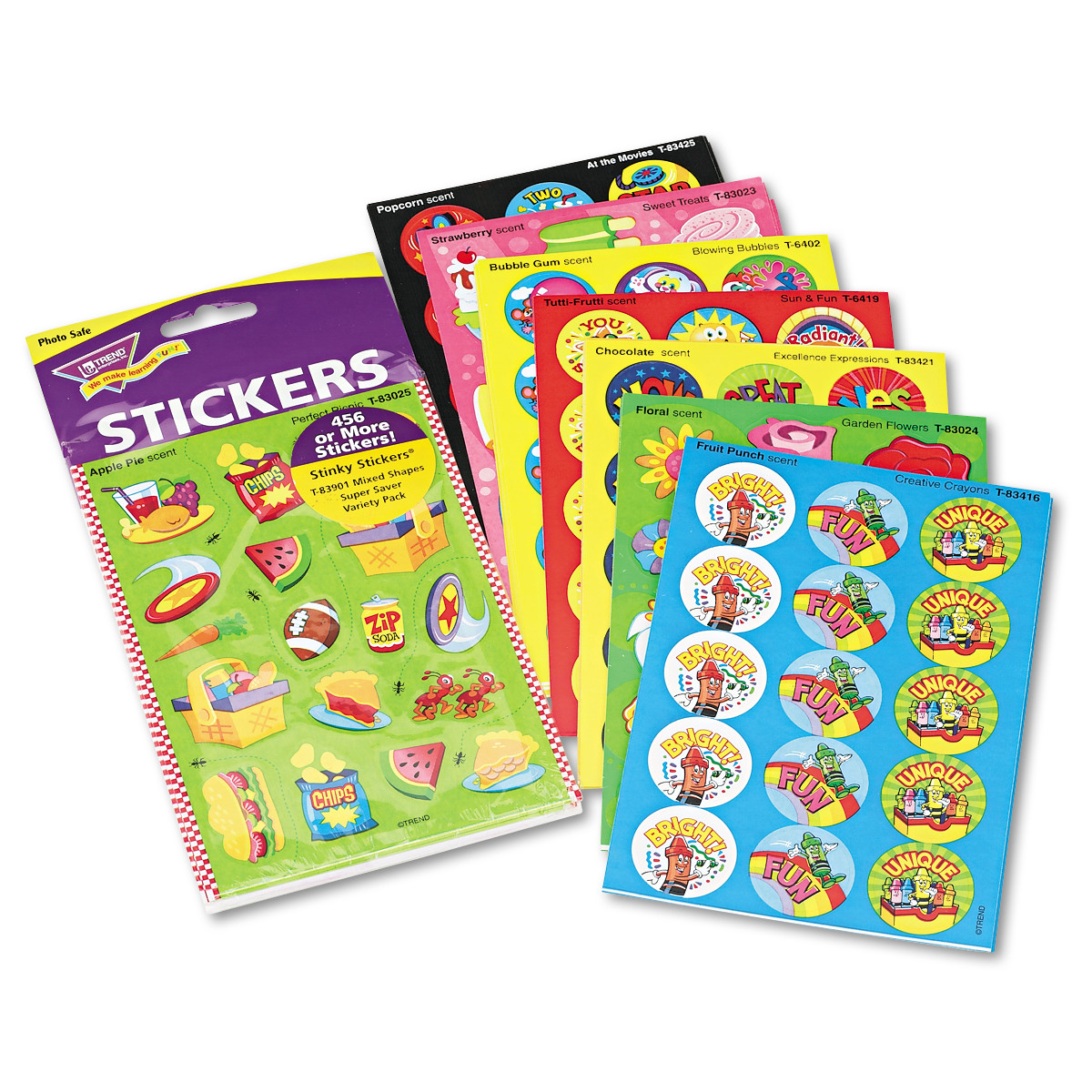 TREND Stinky Stickers Variety Pack, Sweet Scents, 480/Pack -TEPT83901