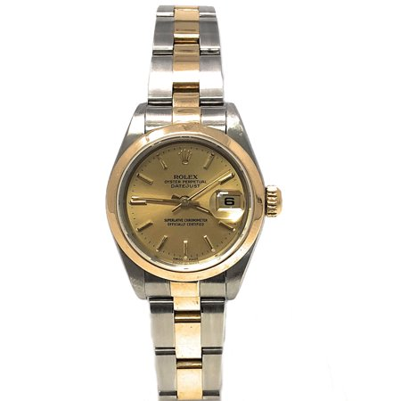 Datejust 79163 Champagne Stick dial and Yellow Gold Smooth Bezel (Certified Pre-Owned)