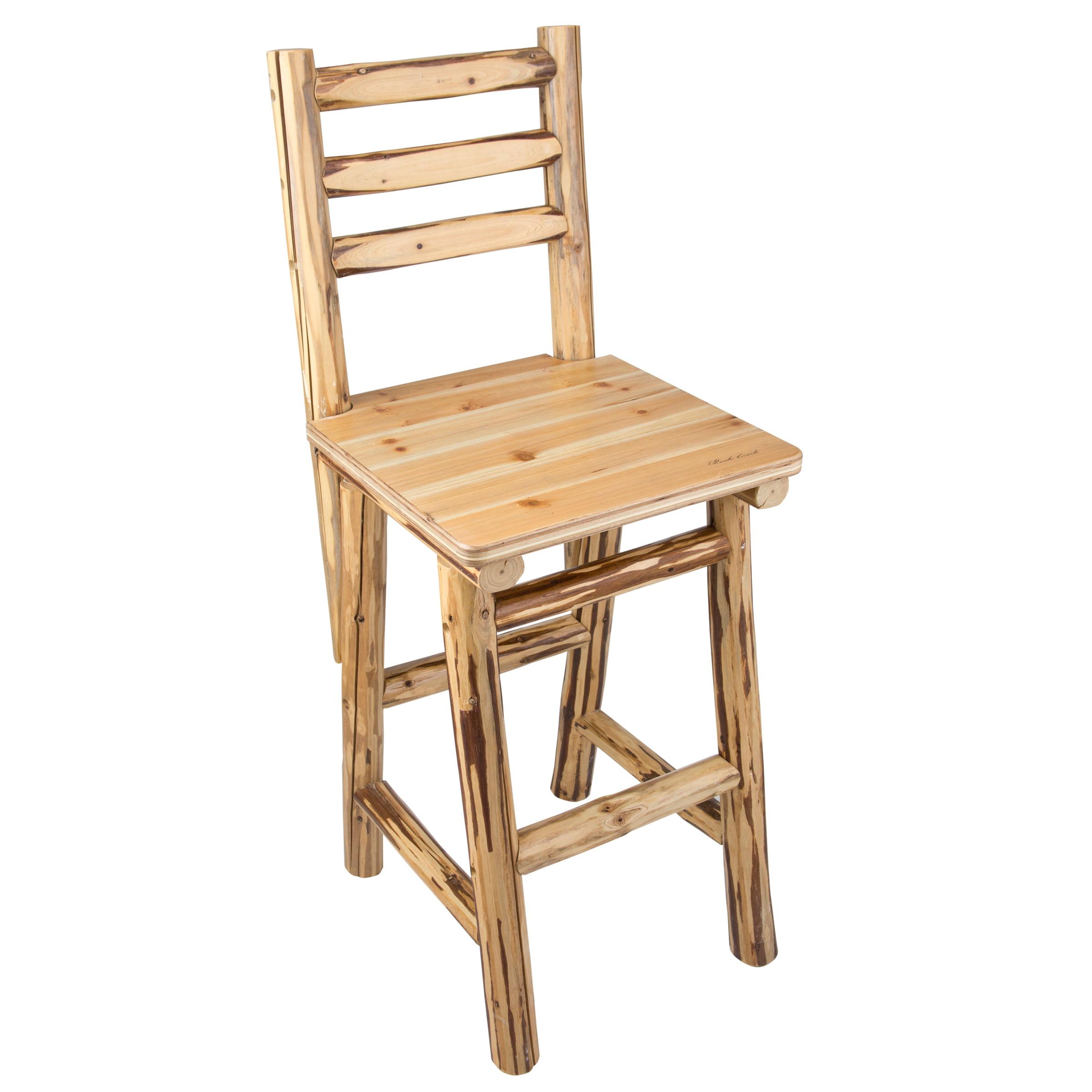 "Rush Creek Creations Rustic Bar/Pub Chair - 47"""