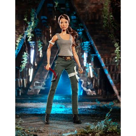Barbie Tomb Raider Lara Croft Doll in Film-Inspired Look