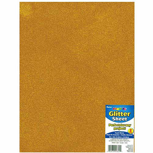"Glitter Foam Sheet 9""X12"" 2mm-Black"