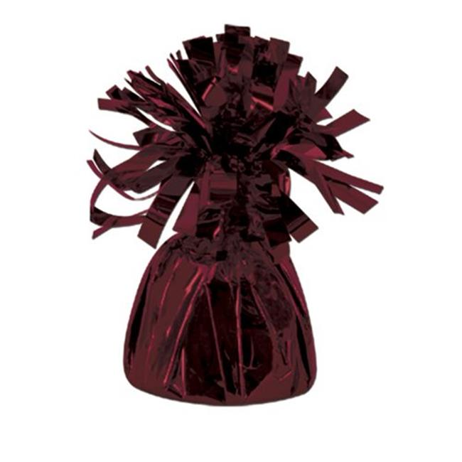 Metallic Wrapped Balloon Weight - Maroon Pack of 12 - image 1 of 1