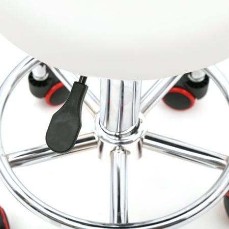 Ktaxon Adjustable Hydraulic Swivel Stool Beauty Spa Salon White Stripe Chair & Backrest - image 1 de 4