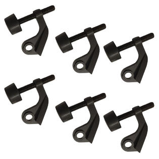 Oil Rubbed Bronze Extra Protection Hinge Pin Door Stop - 6 Pack