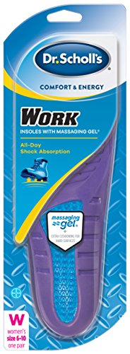 6 Pack Dr. Scholls Comfort and Energy Work Insoles for Women Size 6-10 1 pair Ea by