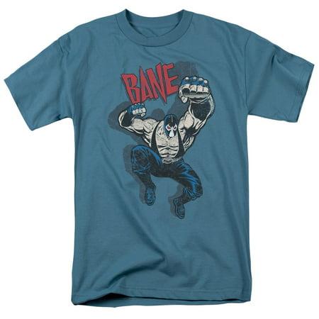 Blue And Grey Batman (Batman Bane Vintage Officially Licensed Adult T)
