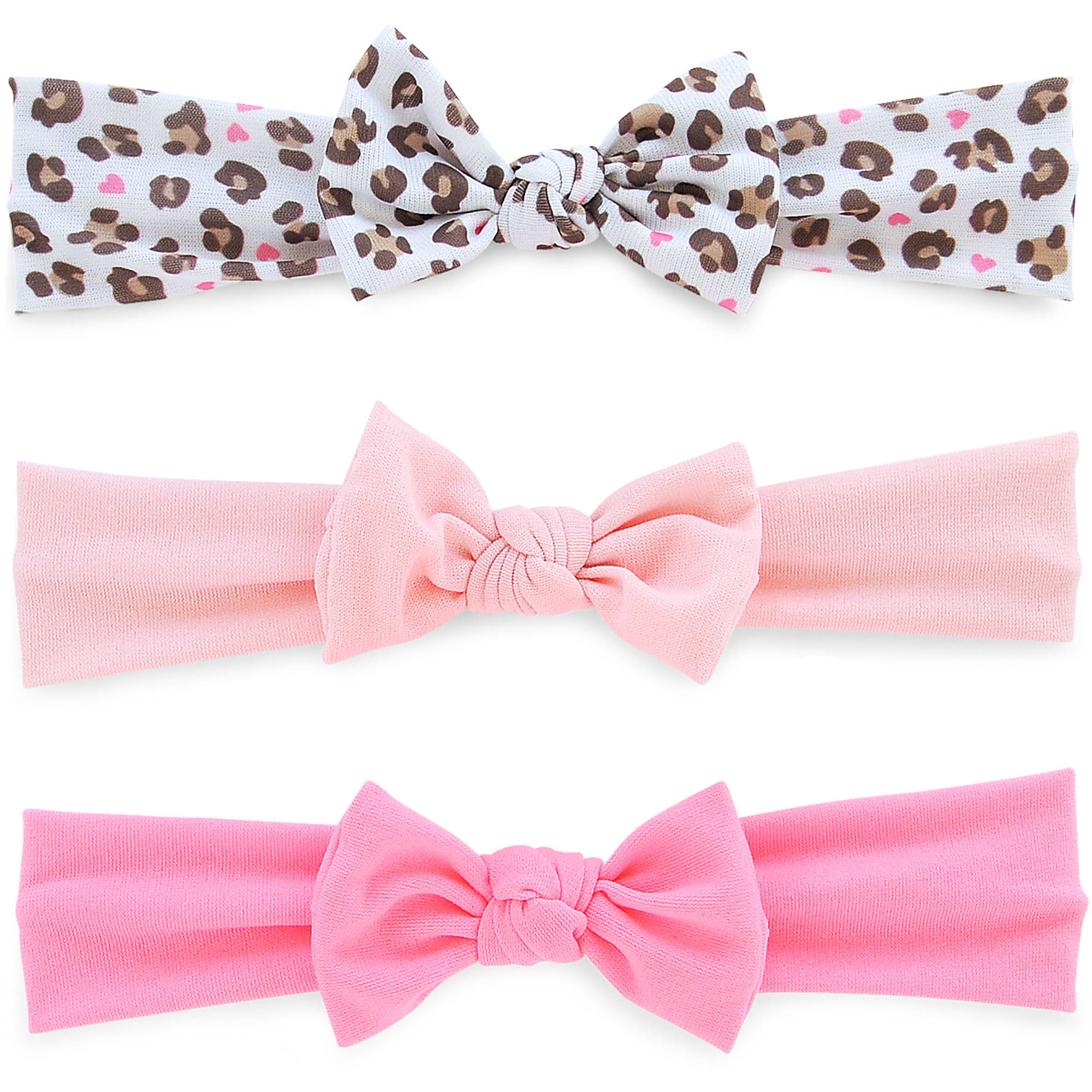 Child Of Mine By Carter's Newborn Baby Girl Large Bow Headwrap, 3 Pack