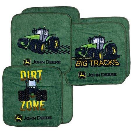 John Deere 6 Pack Washcloth Set