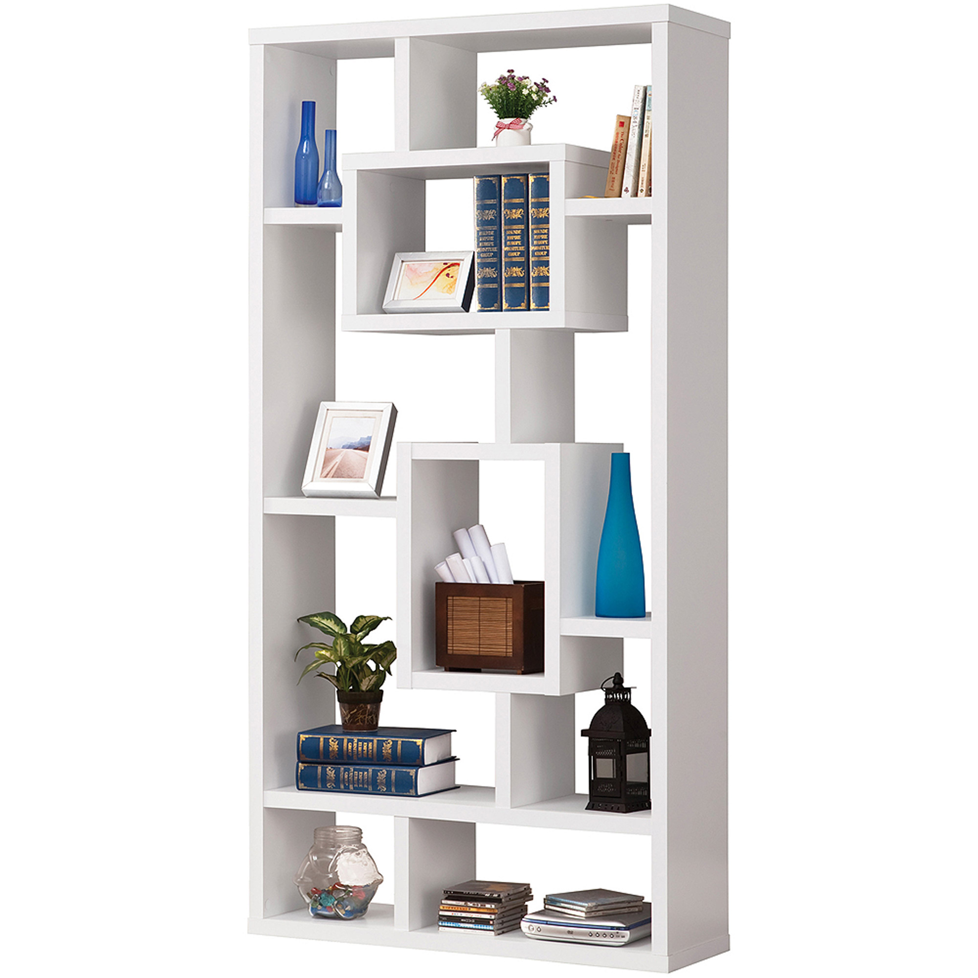 Coaster White Interlocking Bookcase