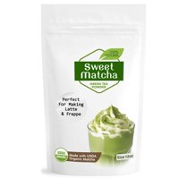 Japanese Sweet Matcha (4oz) Green Tea Powder Mix- Made with 100% Organic Matcha - Perfect for Making Green Tea Latte or Frappe