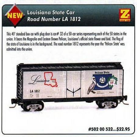 MicroTrains Z State of the Union Series - Louisiana - 40' Box Plug -