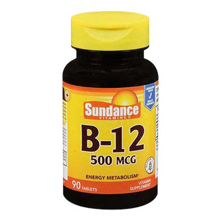 Sundance Vitamins B 12 Energy Metabolism 500 Mcg Tablets  90 Ea
