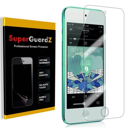 [2-Pack] For iPod Touch 6 (6th Gen) / 5 (5th Gen) - SuperGuardZ Explosion-proof Anti-Shock Screen Protector, Ultra Clear, Anti-Scratch, Anti-Bubble (Ipod 5 Privacy Screen Protector)