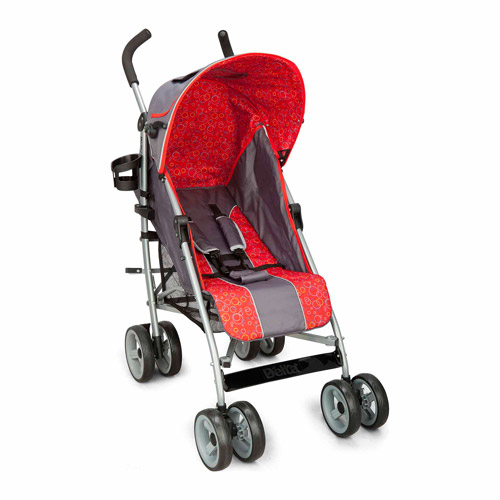 Delta Children Urban Street LX Stroller, Grey/Red
