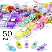 50 Pack Sewing Clips for Quilting, Multipurpose Sewing Clips Clamps, Assorted Colors Wonder Clips, Sewing Accessories