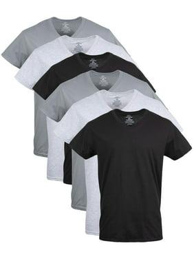 George Men's Assorted V-Neck T-shirts, 6 Pack