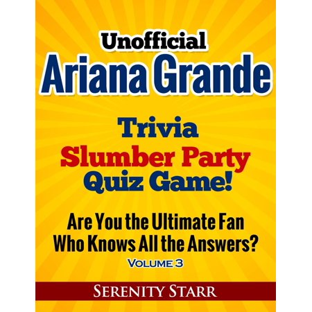Unofficial Ariana Grande Trivia Slumber Party Quiz Game Volume 3 - eBook](Trivia Quiz Halloween)