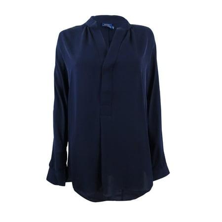 91493eca3c6adc Polo Ralph Lauren - Polo Ralph Lauren Women s Silk Georgette Shirt -  Walmart.com