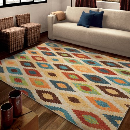 orian rugs bright aspect twists multi colored area rug. Black Bedroom Furniture Sets. Home Design Ideas