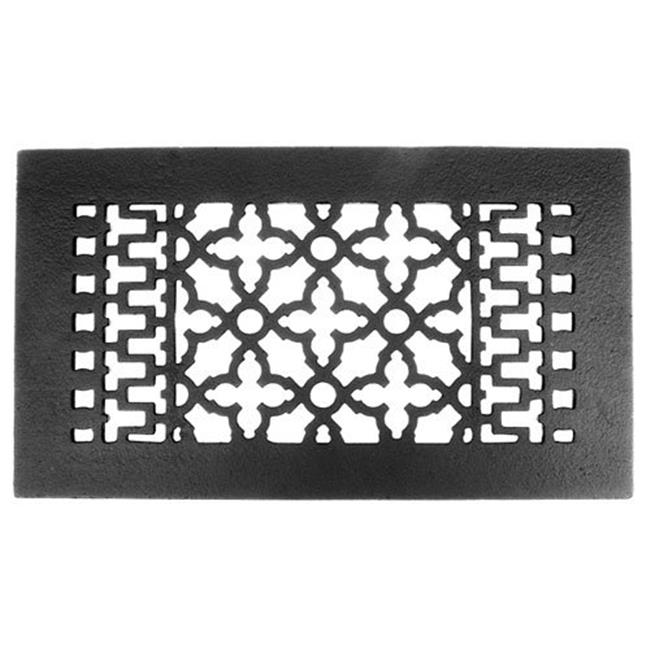 Acorn GRBBG 12; x 6; Cast Iron Decorative Grille - Black