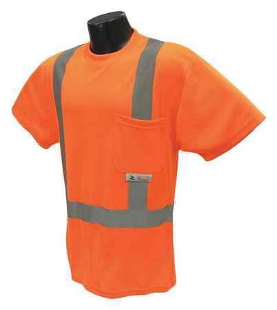 RADIANS T-Shirt,Unisex,3XL,28 in.,Orange ST11-2POS-3X