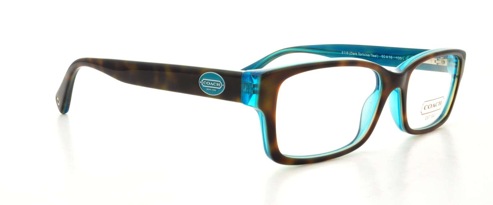 e2c4d937a8 COACH Eyeglasses HC 6040 5116 Tortoise Teal 52MM