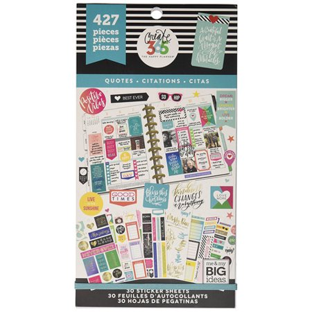 The Happy Planner Quotes Stickers: 427 Pack (Happy Mothers Day Stickers)