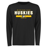 Michigan Tech Huskies Team Strong Long Sleeve T-Shirt - Black