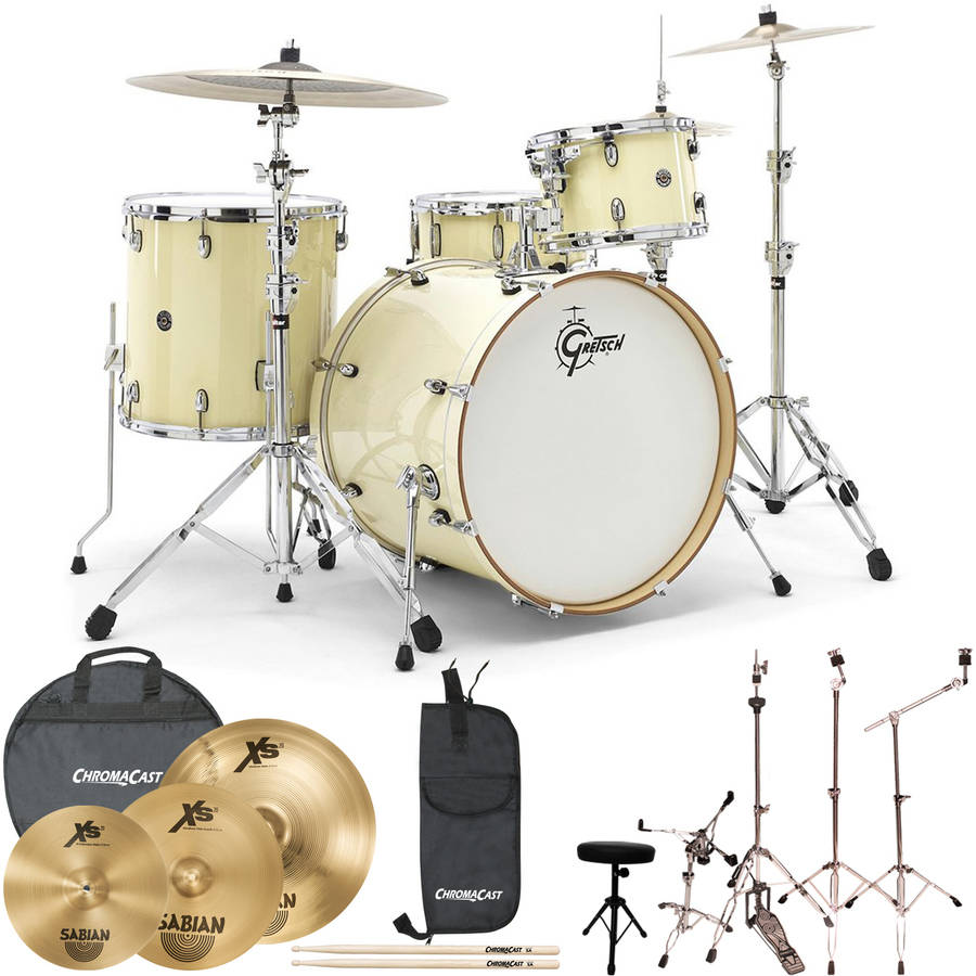 Gretsch Drums Jazz Catalina Club 4 Piece Drum Shell Pro Pack with Sabian Performer Cymbal... by Generic