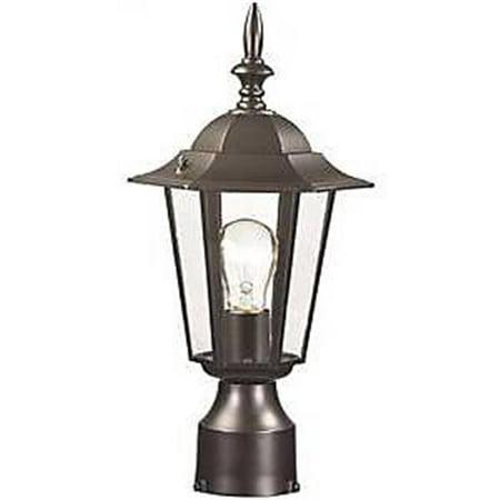 Boston Harbor 3941044 AL8044-BK Medium Light Post Lantern, Black High Post Mount Lantern