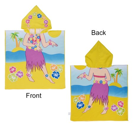 Hooded Kids Bath Towels Cotton Towel Foldable Washcloth with Cute Printing,  Water Absorption Quality, Fade-resistant, Quick-dry