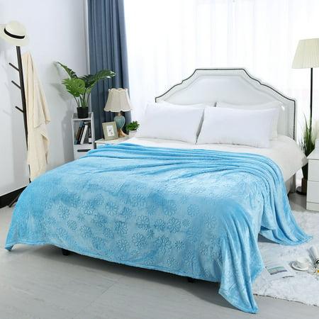 Fuzzy Bed (Luxury Fuzzy Fleece Bed Blanket Ultra Soft Microplush Velvet Blanket)