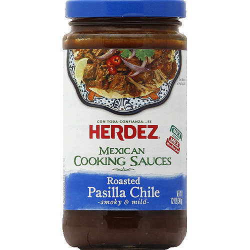 HERDEZ Roasted Pasilla Chile Mexican Cooking Sauce, 12 fl oz, (Pack of 6)