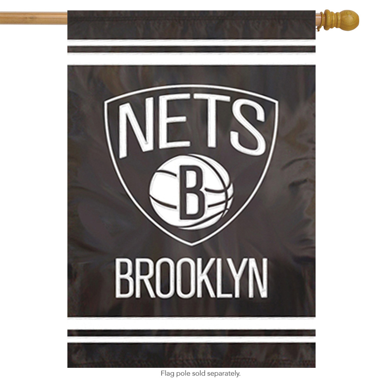 "NEW JERSEY NETS 44""x28"" 2-SIDED BANNER FLAG"