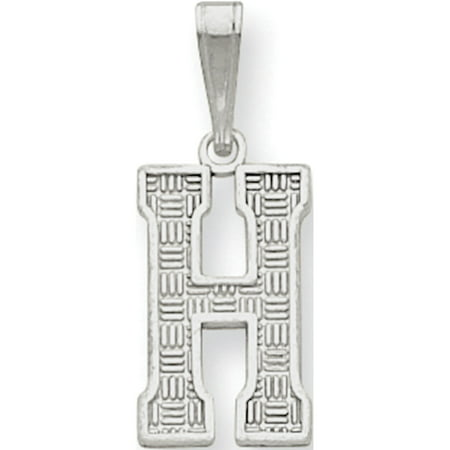 Initial 925 Silver Jewelry Pendant - Leslies Fine Jewelry Designer 925 Sterling Silver Initial H (9to10x25mm) Pendant Gift Box Included