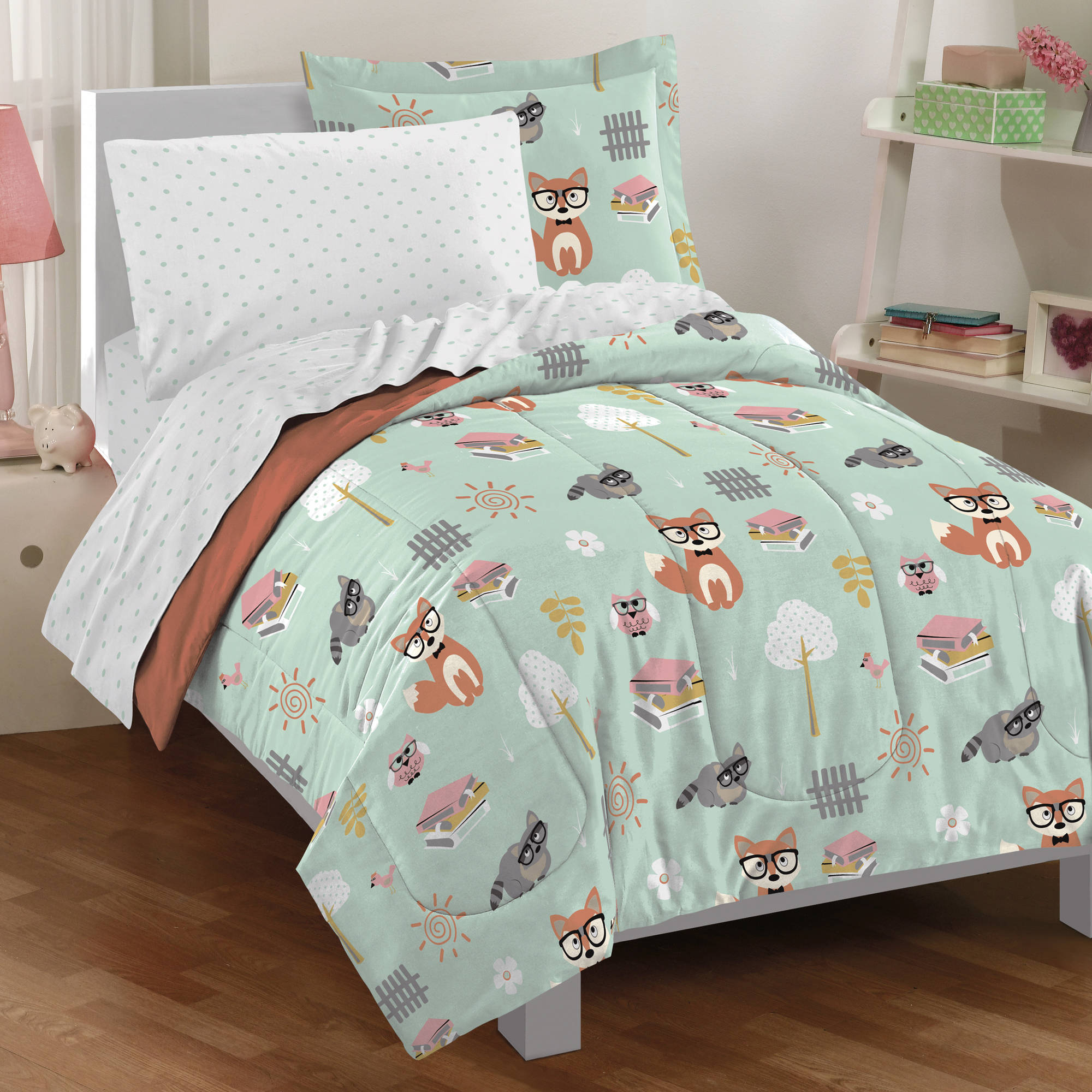 Dream Factory Woodland Friends Bed in a Bag, Green