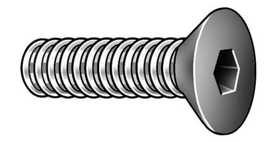 Pack of 10 1//4-20 x 7//8 Chrome 1//4/'/'-20 x 7//8 Midwest Acorn Nut Company Button Alloy Steel Chrome MPB267 Button Head Socket Cap Screw