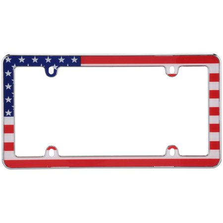 Cruiser Accesories® USA Flag⢠License Plate Frame Cruiser Acrylic License Plate Bubble