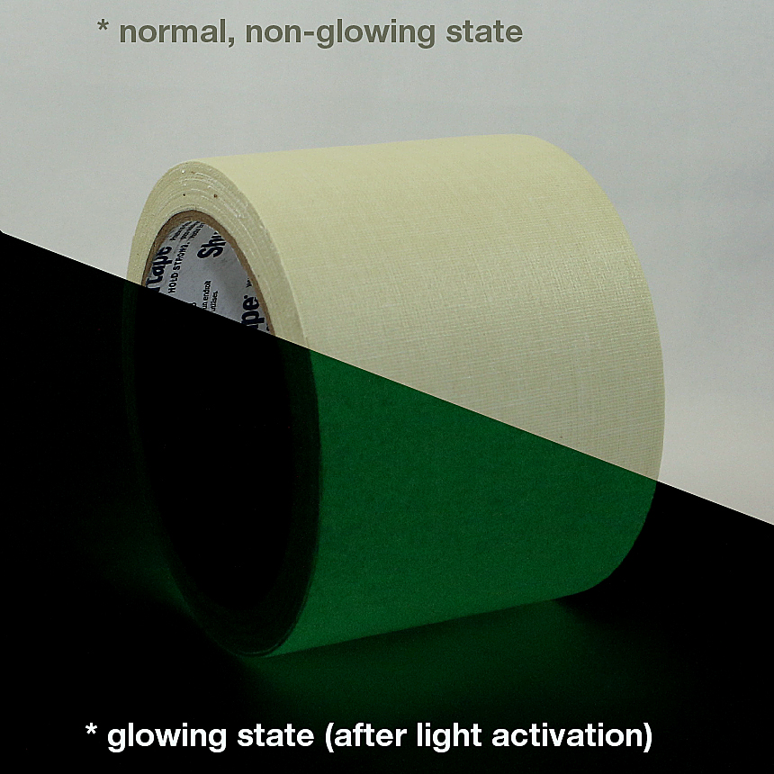 Shurtape P-661 Glow in the Dark Gaffers Tape: 3 in. x 30 ft. (Luminescent Lime Green)