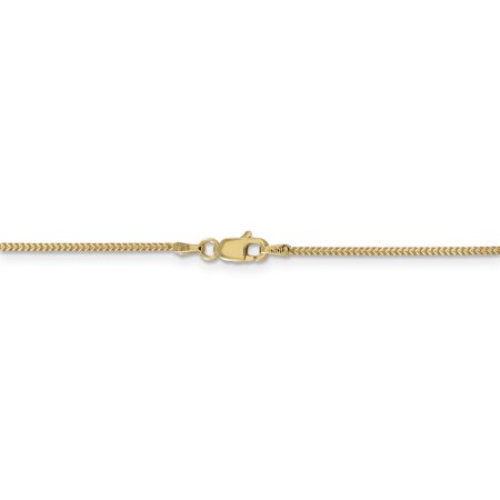 14K Yellow Gold .9mm Solid Polished Franco Chain 30 Inch - image 4 de 5