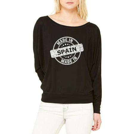 b9b148187 Spain T-Shirt Made in Spain Artix Women s Flowy Long Sleeve Off Shoulder  Tee Clothes