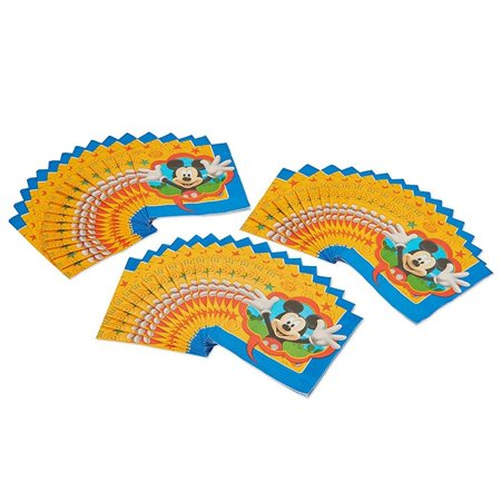 Mickey Mouse Napkins - American Greetings Mickey Mouse Lunch Napkins 48 Count