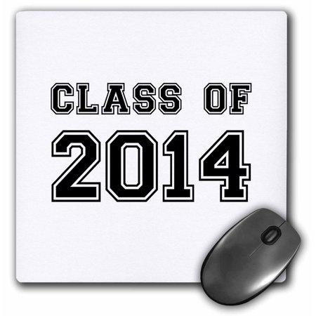 3dRose Class of 2014 - Graduation gift - graduate graduating high school university or college grad black, Mouse Pad, 8 by 8 inches