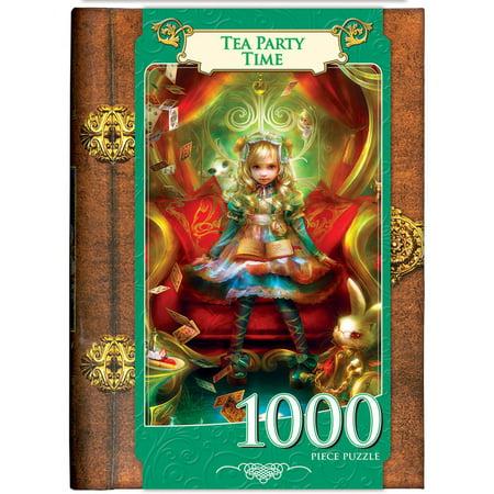 Masterpieces Alice In Wonderland   Tea Party Time   Fairytale Book Box Puzzle  1000 Pieces