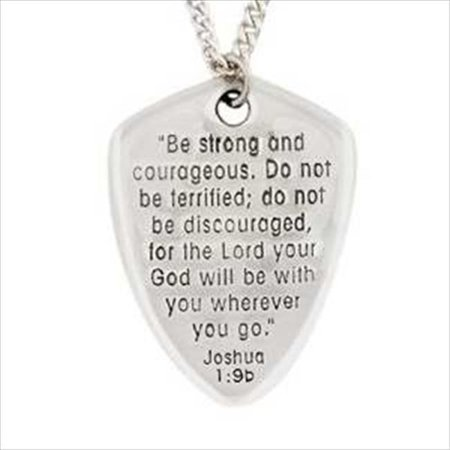 Necklace Shield Of Faith Cross With 24 In. Chain Carded