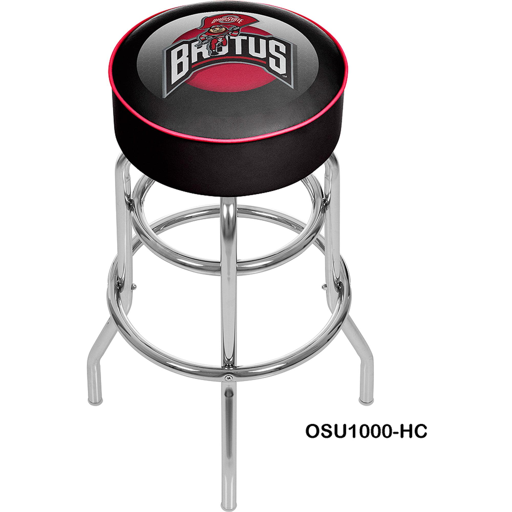 Ohio State Rushing Brutus Padded Barstool