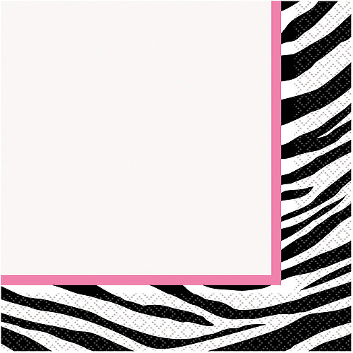 Zebra Print Party Lunch Napkins, 16ct