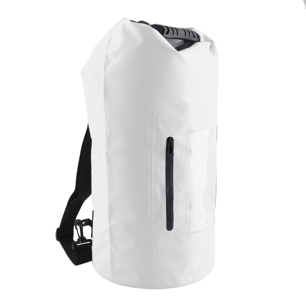 Waterproof Roll Top Duffel Bag With Grab Handle Dry Gear Bag Survival Sack Kit,30L(White) by